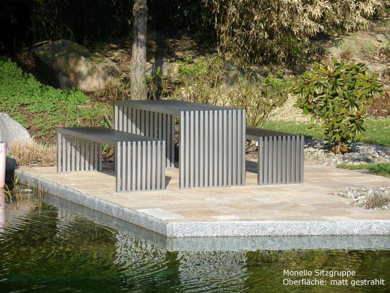 Edelstahl-Sitzgruppe Monello
