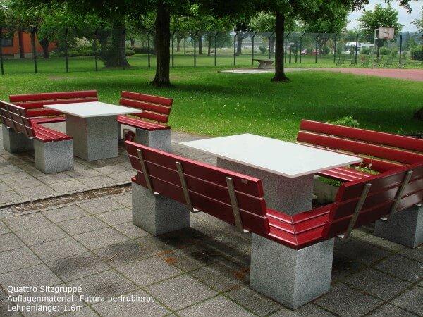 Sitzgruppe-Quattro-Futura-perlrubinrot