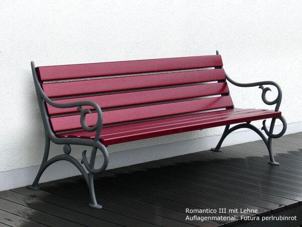 Parkbank-Romantico-III-Futura-perlrubinrot